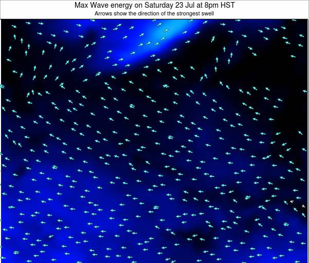 MidwayIslands Max Wave energy on Saturday 15 Dec at 2am HST map