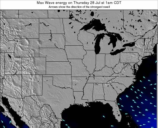 Illinois Max Wave energy on Monday 28 Apr at 1pm CDT