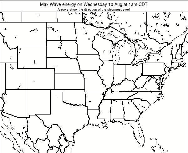 Illinois Max Wave energy on Monday 28 Jul at 7pm CDT