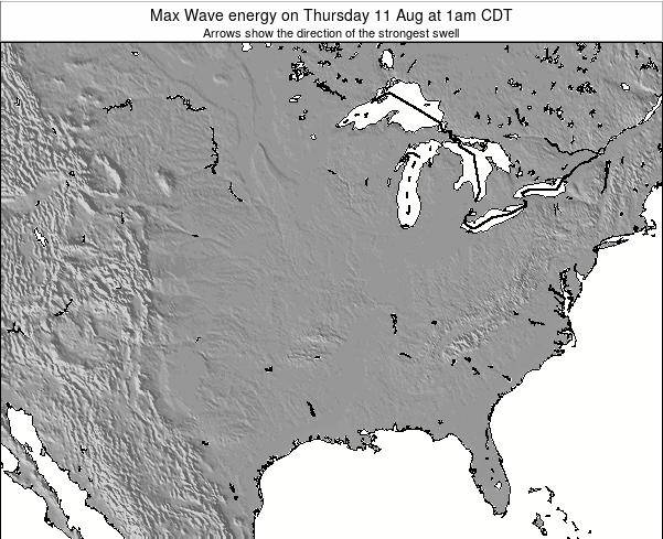Illinois Max Wave energy on Thursday 13 Mar at 1pm CDT