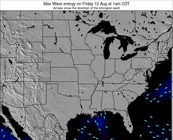 Illinois Max Wave energy on Sunday 27 Apr at 1pm CDT