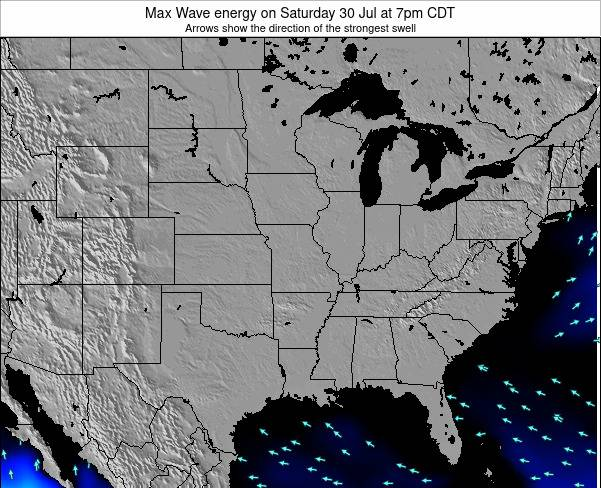 Illinois Max Wave energy on Monday 05 Dec at 12pm CST
