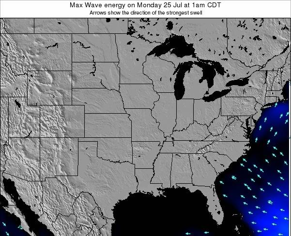 Illinois Max Wave energy on Thursday 05 May at 7am CDT