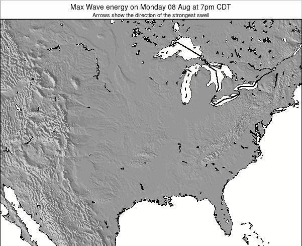 Illinois Max Wave energy on Monday 29 Aug at 7pm CDT