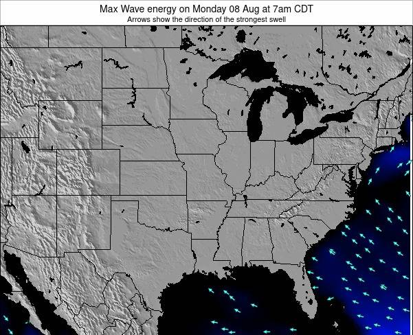 Illinois Max Wave energy on Thursday 07 Aug at 7pm CDT