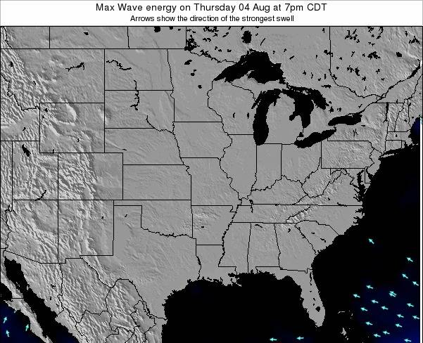 Illinois Max Wave energy on Monday 17 Mar at 1am CDT