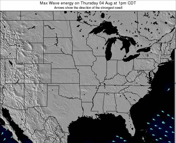 Illinois Max Wave energy on Wednesday 30 Apr at 7am CDT