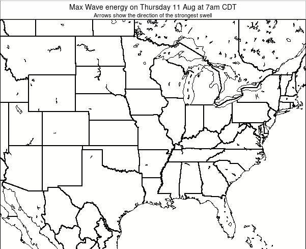 Illinois Max Wave energy on Monday 21 Apr at 7pm CDT