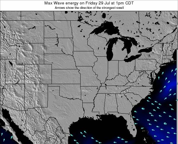 Illinois Max Wave energy on Saturday 04 Jun at 7am CDT