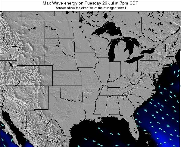Illinois Max Wave energy on Thursday 01 May at 1pm CDT