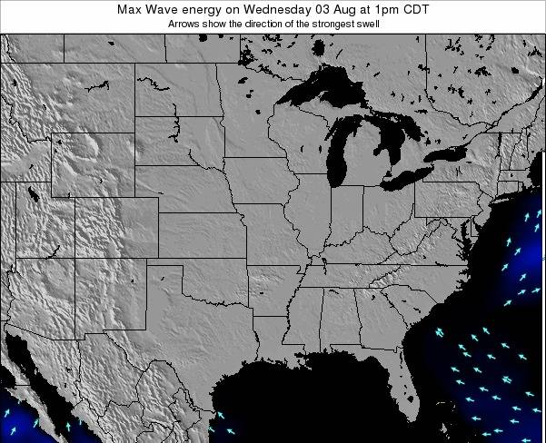 Illinois Max Wave energy on Wednesday 30 Jul at 7am CDT