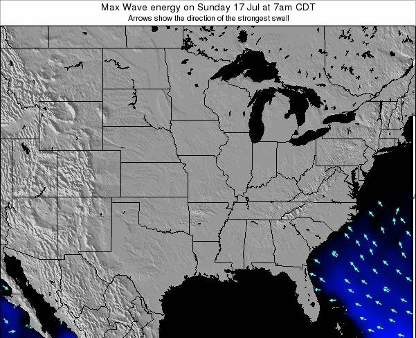 Illinois Max Wave energy on Saturday 25 Oct at 7am CDT