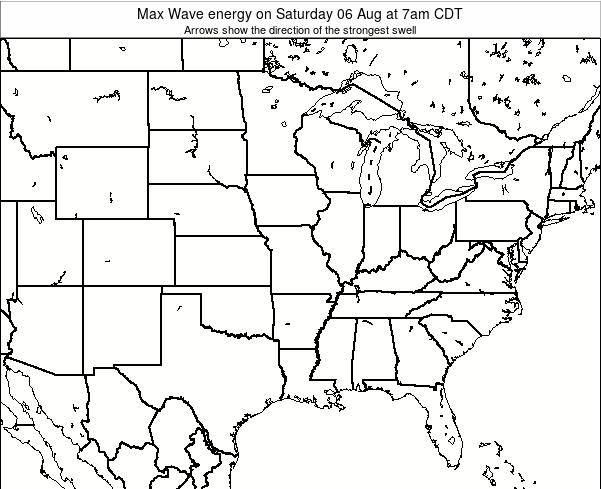 Illinois Max Wave energy on Tuesday 11 Mar at 7pm CDT