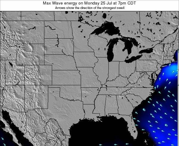 Illinois Max Wave energy on Saturday 19 Apr at 7pm CDT