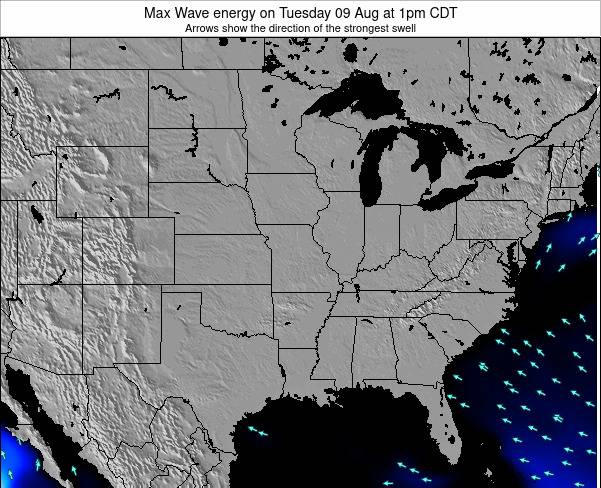 Illinois Max Wave energy on Tuesday 11 Mar at 1pm CDT