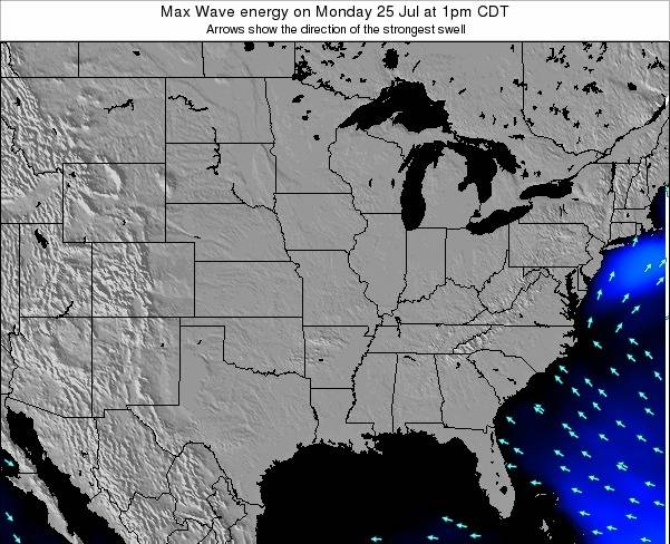 Illinois Max Wave energy on Saturday 14 Dec at 12am CST