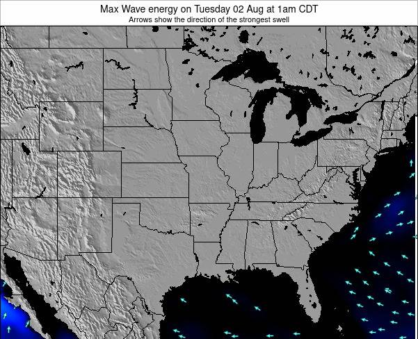Illinois Max Wave energy on Sunday 27 Jul at 7pm CDT
