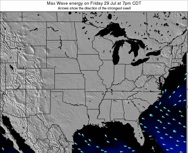 Illinois Max Wave energy on Friday 01 Aug at 1pm CDT
