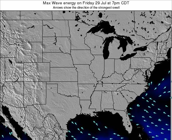 Illinois Max Wave energy on Thursday 13 Mar at 7pm CDT