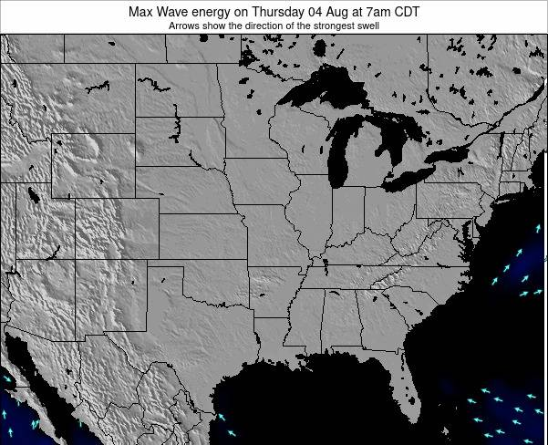 Illinois Max Wave energy on Saturday 07 Dec at 12am CST