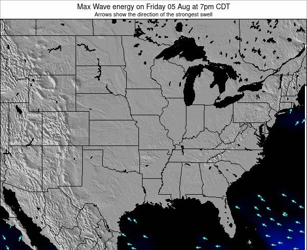 Illinois Max Wave energy on Wednesday 11 Dec at 12am CST