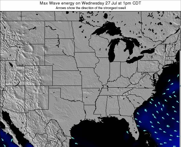 Illinois Max Wave energy on Tuesday 21 May at 7am CDT