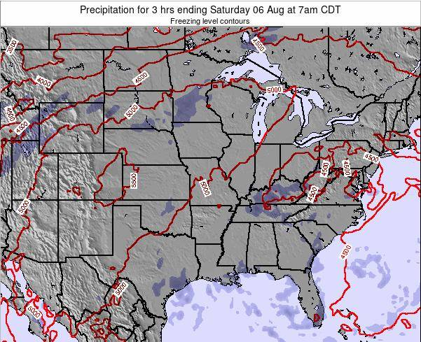 Illinois Precipitation for 3 hrs ending Saturday 25 May at 1am CDT