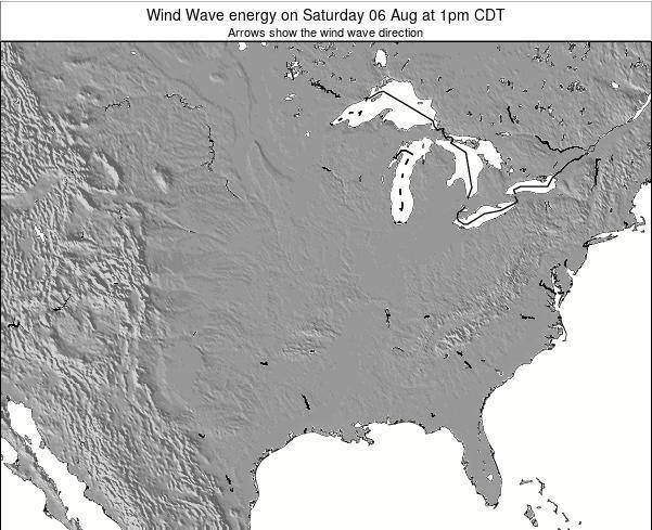 Iowa Wind Wave energy on Thursday 21 Mar at 1am CDT map