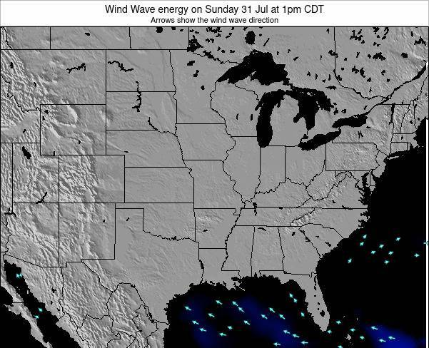 Illinois Wind Wave energy on Thursday 23 May at 1am CDT