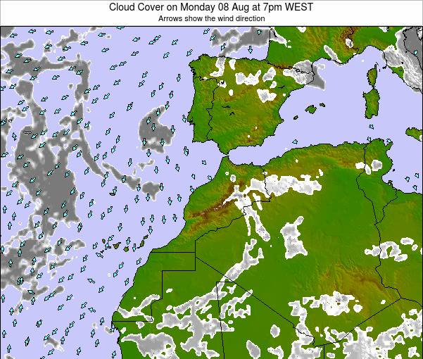 Morocco Cloud Cover on Saturday 26 Apr at 6am WET
