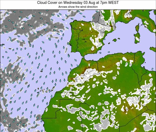 Morocco Cloud Cover on Friday 06 Mar at 6am WET