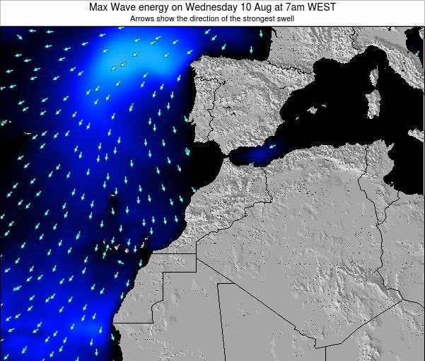 Morocco Max Wave energy on Monday 21 Apr at 6pm WET