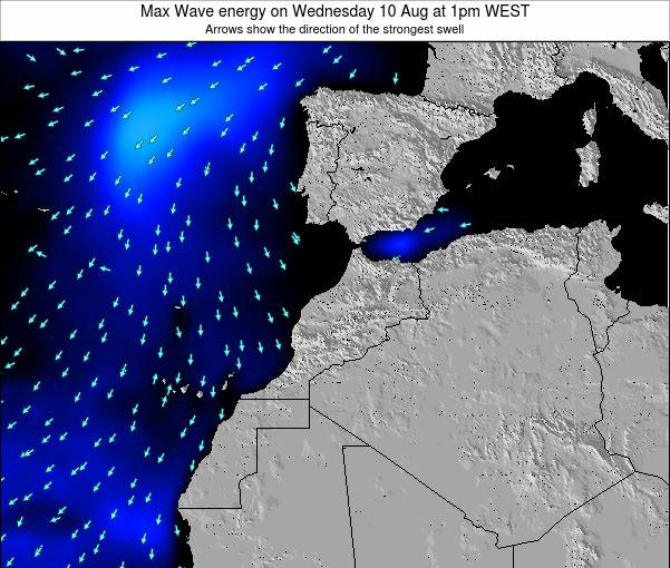 Morocco Max Wave energy on Thursday 05 Feb at 12pm WET
