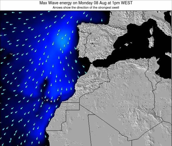 Morocco Max Wave energy on Wednesday 29 May at 6pm WET
