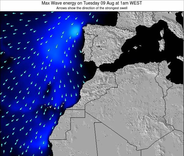 Morocco Max Wave energy on Sunday 15 Dec at 6pm WET