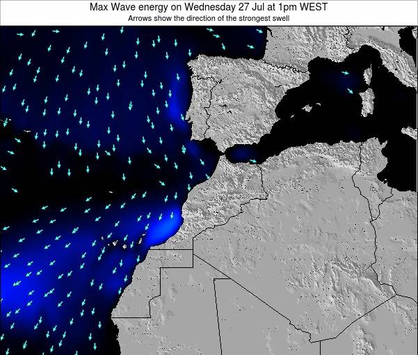 Morocco Max Wave energy on Saturday 07 May at 1am WEST