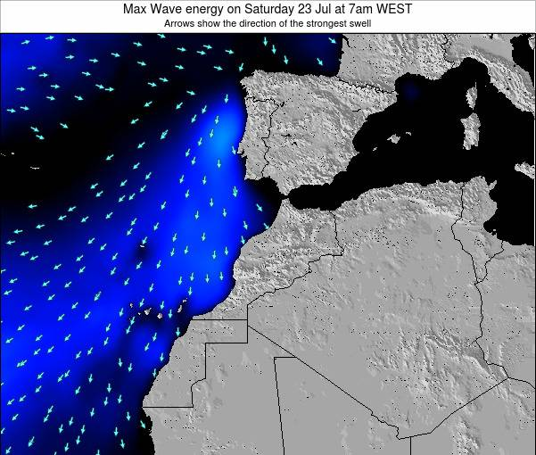 Morocco Max Wave energy on Saturday 04 Jul at 6am WET
