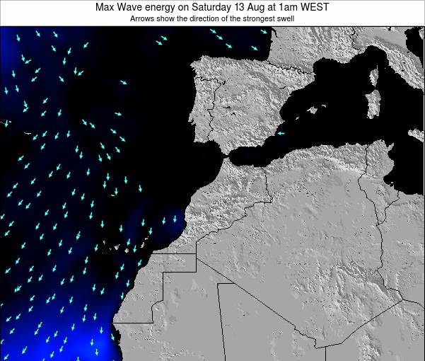 Morocco Max Wave energy on Wednesday 25 Dec at 6pm WET