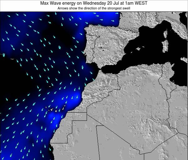 Morocco Max Wave energy on Sunday 06 Sep at 7pm WEST