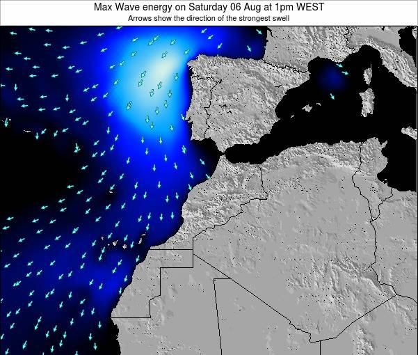 Morocco Max Wave energy on Tuesday 29 Jul at 12pm WET