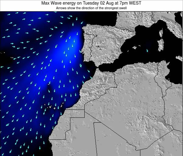 Morocco Max Wave energy on Friday 08 Aug at 1am WEST