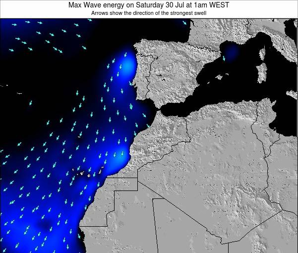 Morocco Max Wave energy on Wednesday 06 Aug at 1pm WEST