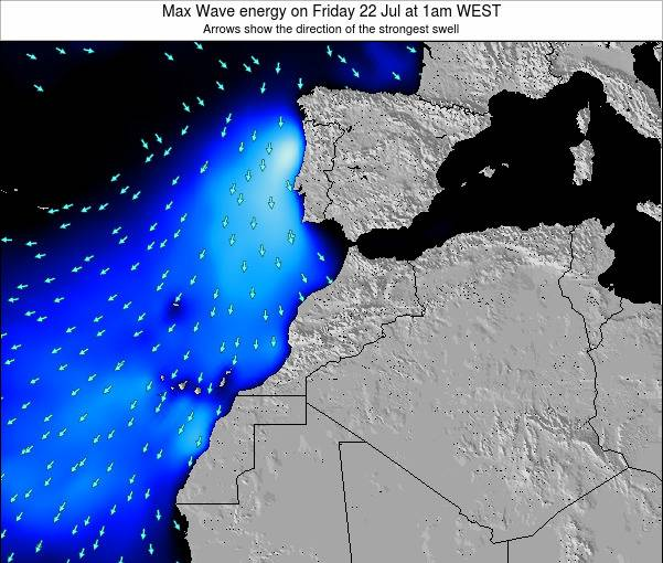 Morocco Max Wave energy on Tuesday 22 Apr at 12pm WET