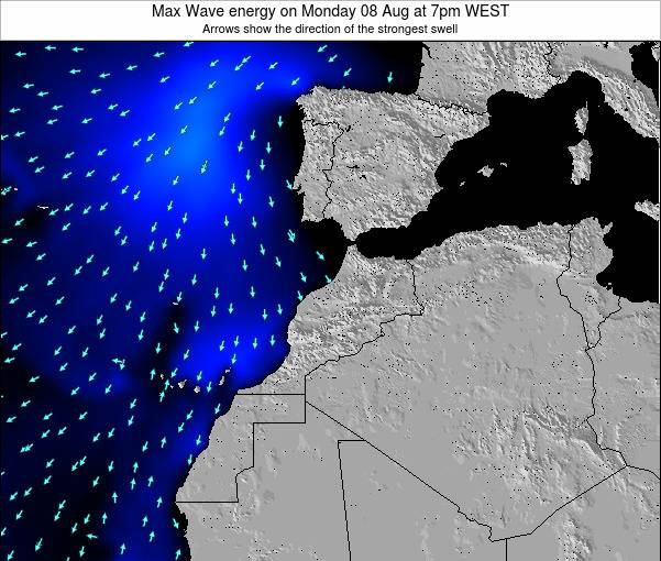 Morocco Max Wave energy on Sunday 26 May at 12pm WET