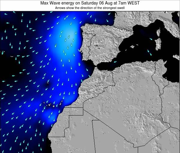 Morocco Max Wave energy on Tuesday 26 Aug at 7pm WEST