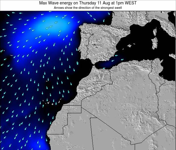 Morocco Max Wave energy on Friday 03 Jun at 7am WEST