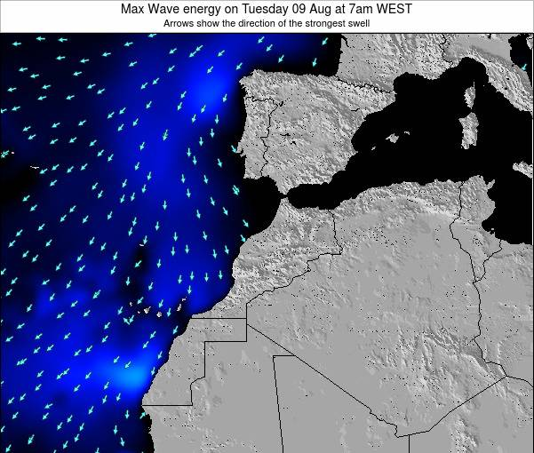 Morocco Max Wave energy on Thursday 27 Jul at 1am WEST