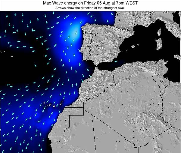 Morocco Max Wave energy on Wednesday 18 Oct at 7pm WEST