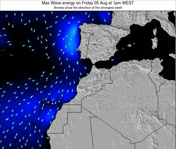 Morocco Max Wave energy on Tuesday 10 Dec at 6pm WET