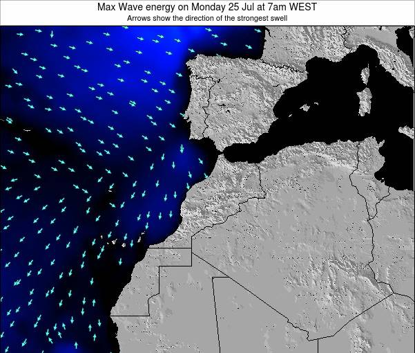 Morocco Max Wave energy on Wednesday 22 May at 12am WET